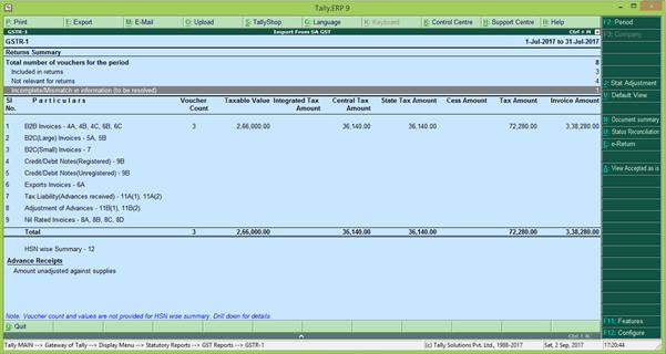 GSTR 1 online filing procedure 10