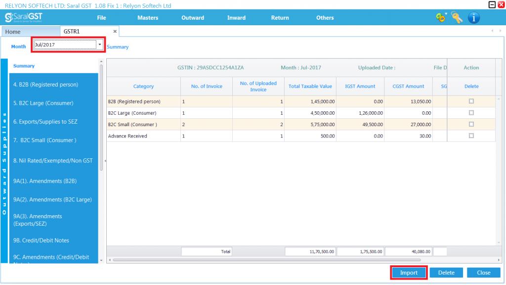 GSTR 1 online filing procedure 13