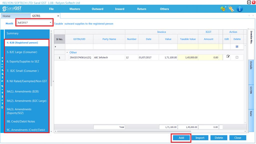 GSTR 1 online filing procedure 2