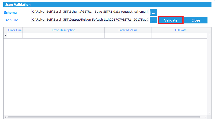 GSTR-1 JSON creation and upload using Saral GST - Step 2