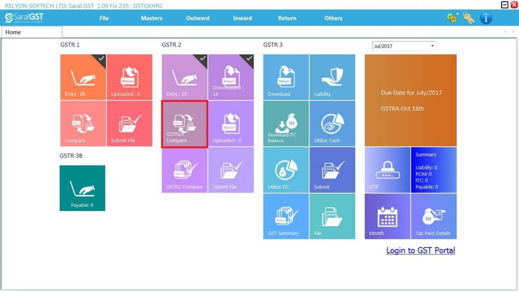 GSTR2 online filing procedure 11