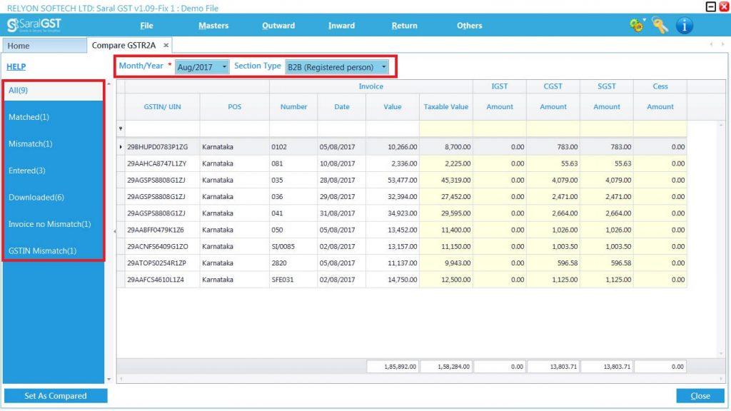 GSTR2 online filing procedure 12