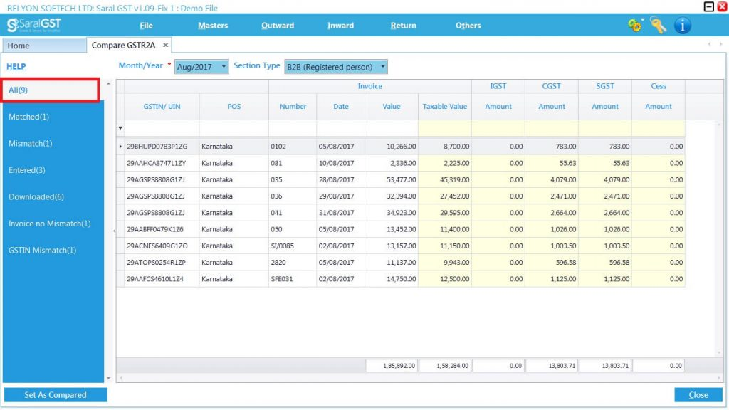 GSTR2 online filing procedure 14