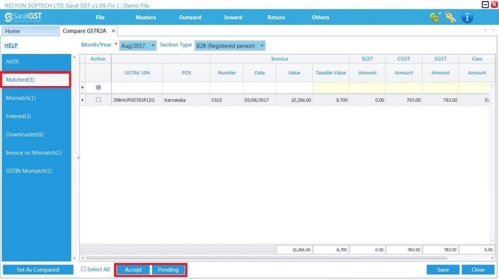 GSTR2 online filing procedure 15