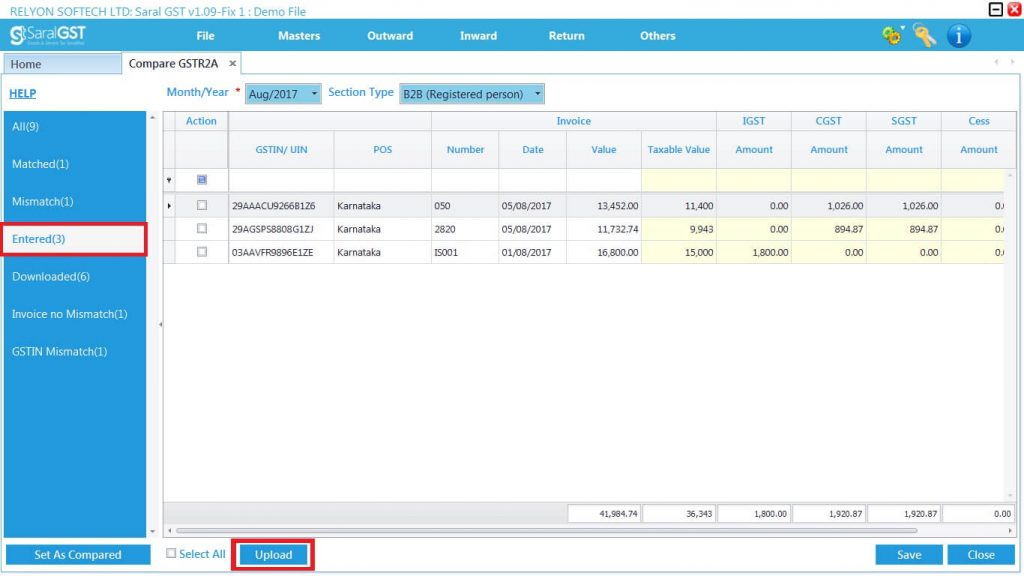 GSTR2 online filing procedure 17