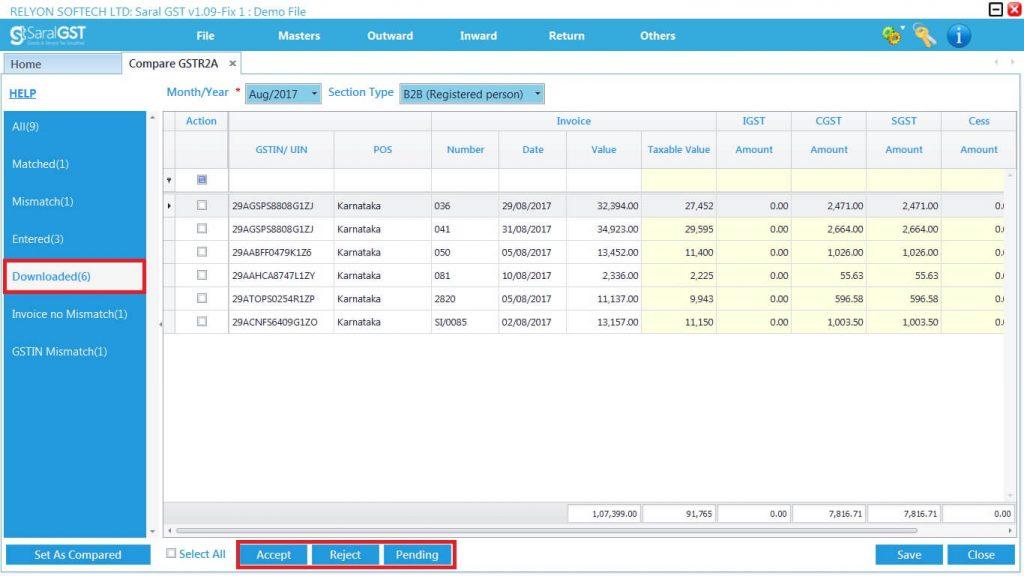 GSTR2 online filing procedure 18