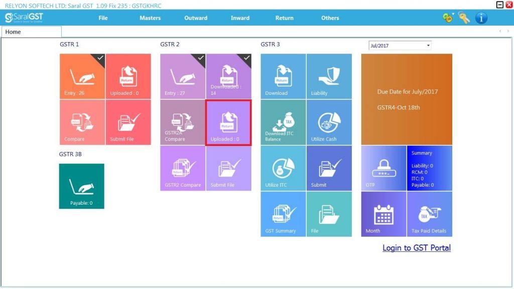 GSTR2 online filing procedure 21