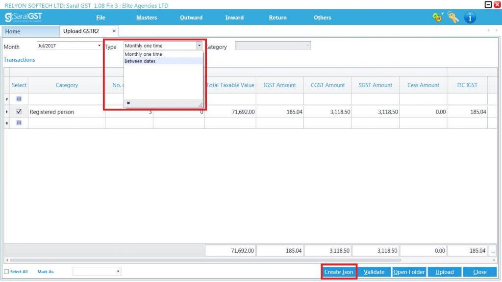 GSTR2 online filing procedure 22