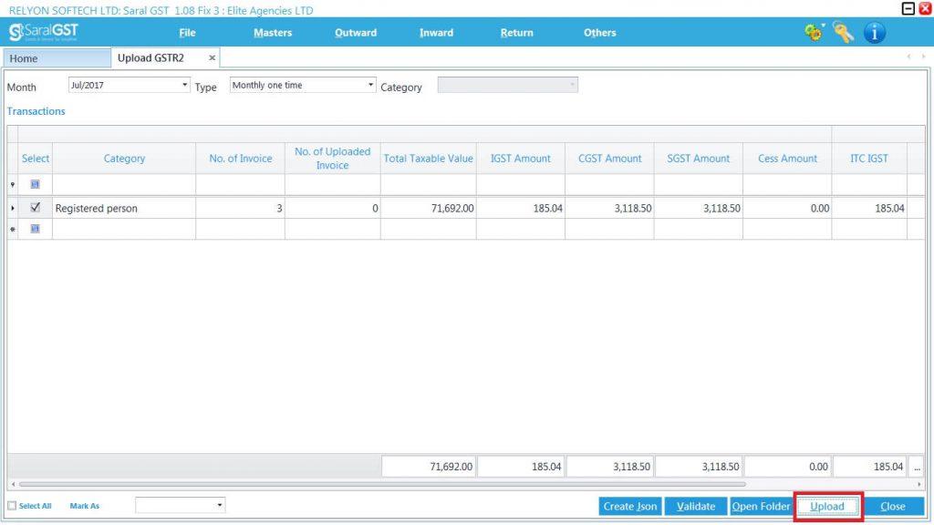 GSTR2 online filing procedure 24