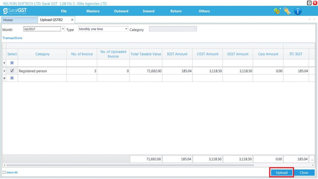GSTR2 online filing procedure 25