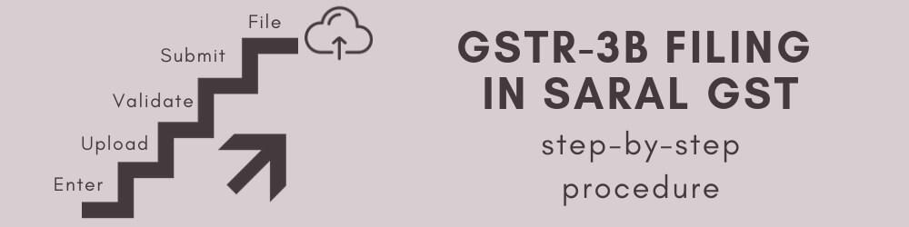 GSTR 3B online filing procedure