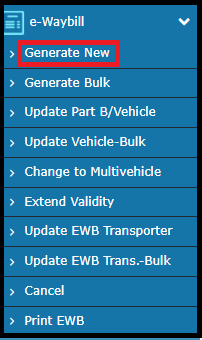 E-way bill generation 4