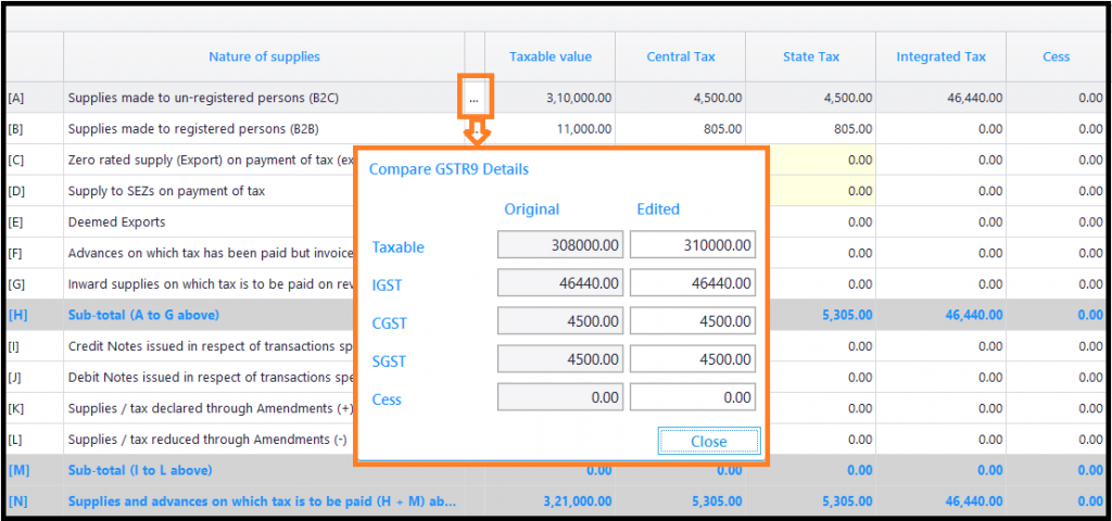 Steps to generate GSTR 9 through Saral GST 7.