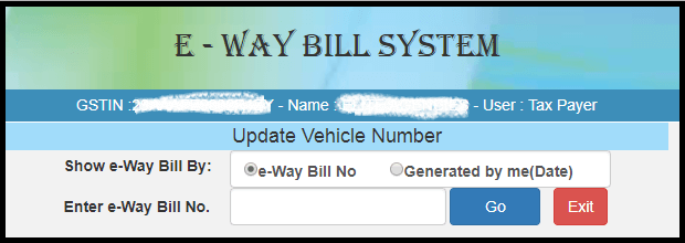 Modify or cancel e-way bill 2
