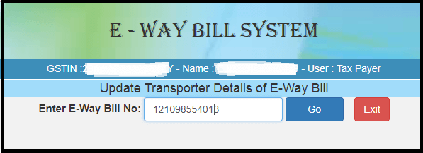 Modify or cancel e-way bill 6
