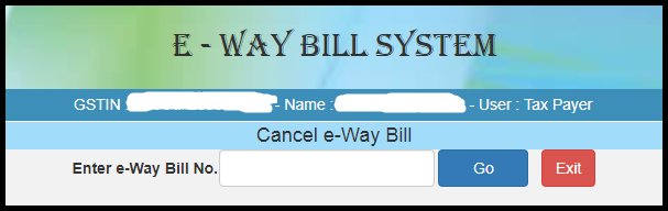 Modify or cancel e-way bill 9