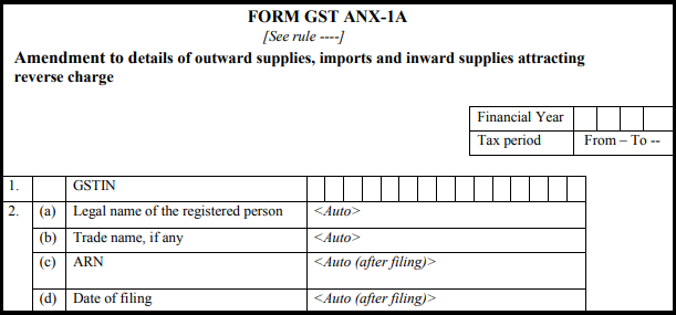 GST normal form - Form GST ANX-1A-2