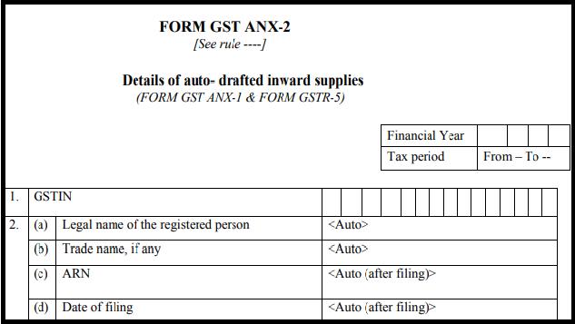 GST sugam return form - Form GST ANX-2