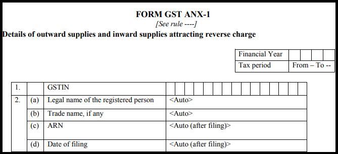 GST sugam return form - GST ANX-1