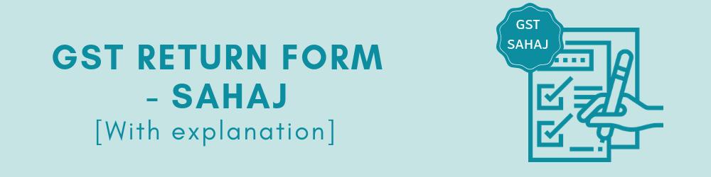 GST Sahaj return form - Form RET-2