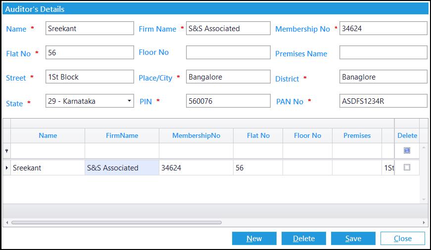 9. GSTR-9C entry -auditor info
