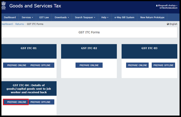 how to file itc-04 in gst portal 2