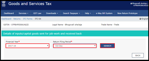 how to file itc-04 in gst portal 3