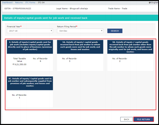 how to file itc-04 in gst portal 4