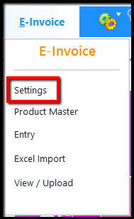 1.E-Invoice generation through Saral GST-settings