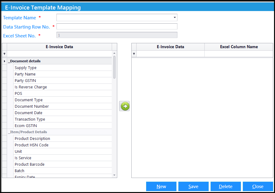 4. E-Invoicing details-Mapping