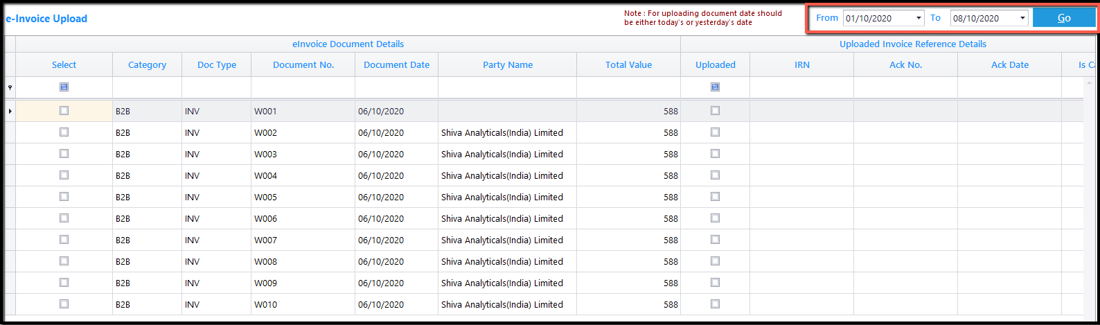 8. E-Invoicing details-displayed