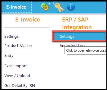 1.Database Integration-e-invoice integration