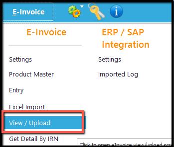 10.Excel integration- view e-invoice