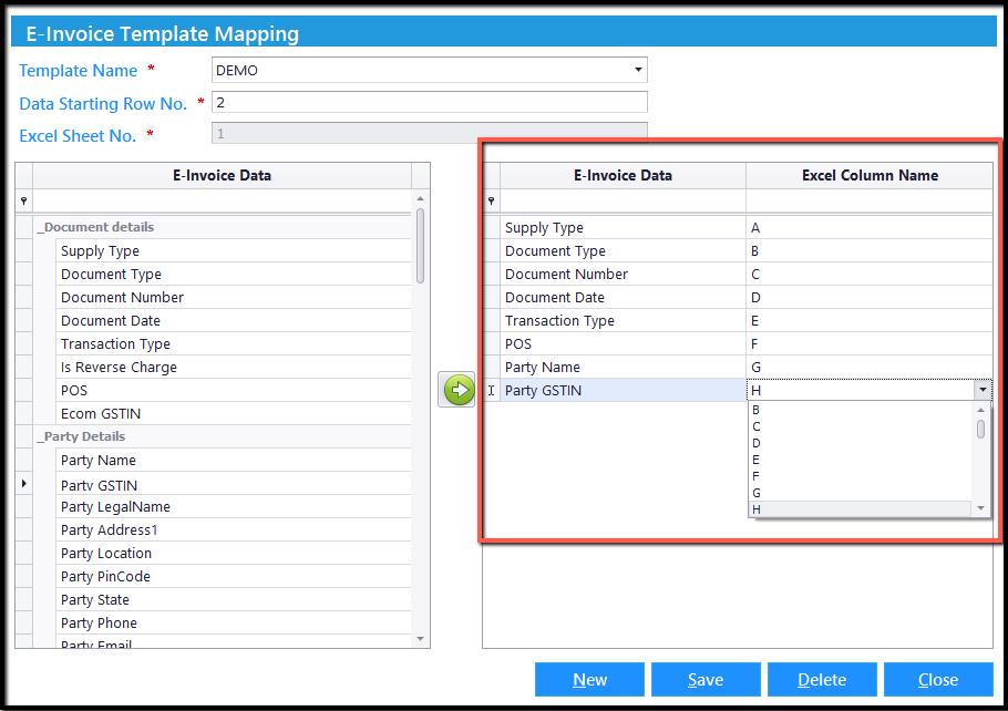5.Excel integration- column name