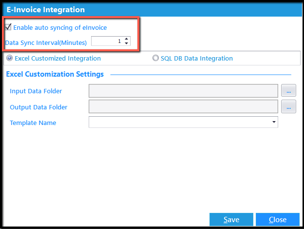 7.Excel integration- auto syncing e-invoice