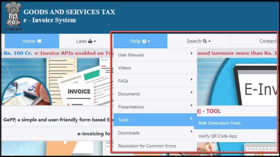 2.Bulk Generation of e-Invoices on IRP-bulk generation tools