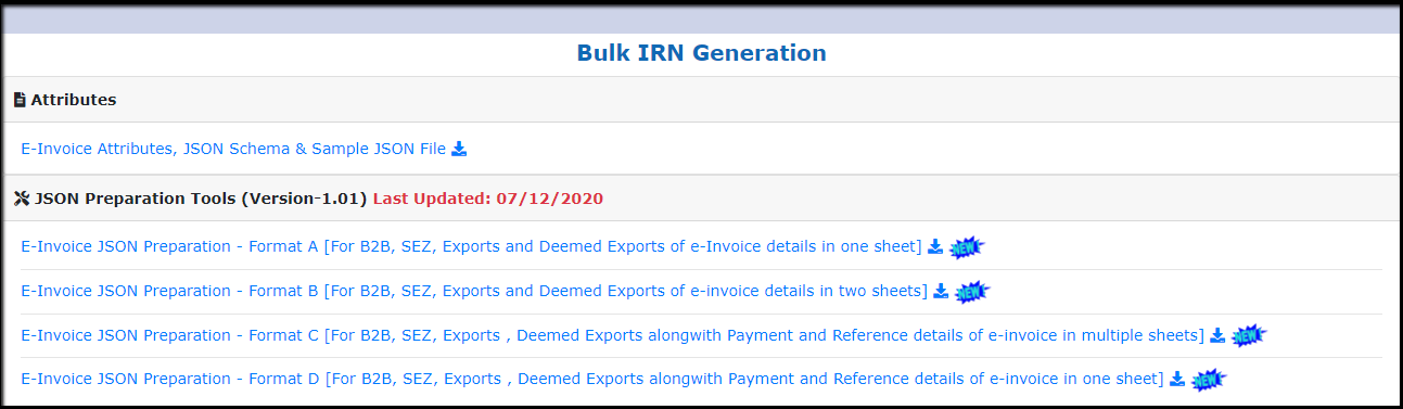 3.Bulk Generation of e-Invoices on IRP-select tool