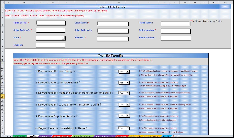 4.Bulk Generation of e-Invoices on IRP-profile sheet